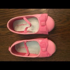 Carters Pink Slip-on shoes - Bright Pink